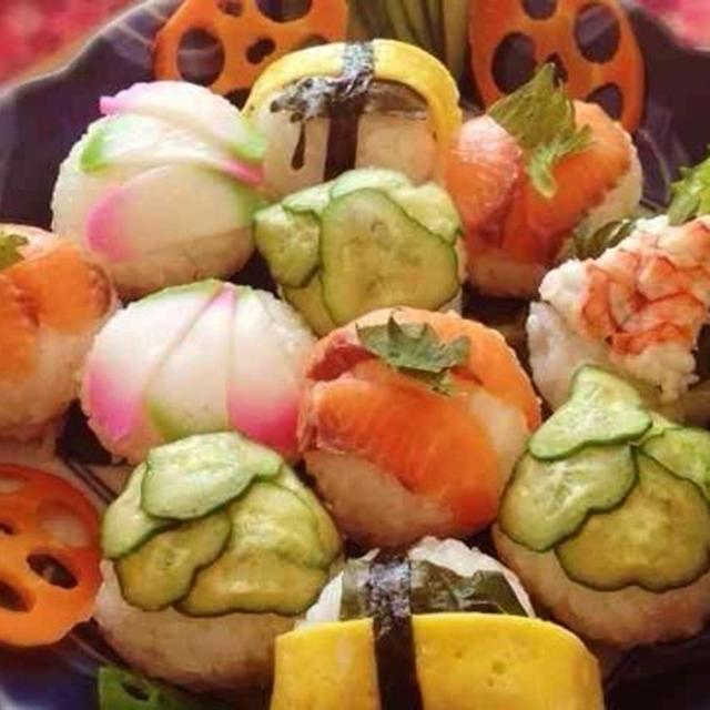 クリスマス*お正月に 手まり寿司