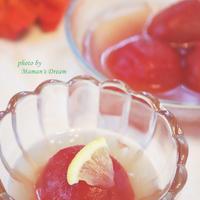 〚レシピあります〛冷やしトマトの蜂蜜煮