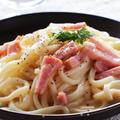 夏向け冷たい麺♡冷製カルボナーラうどんレシピ