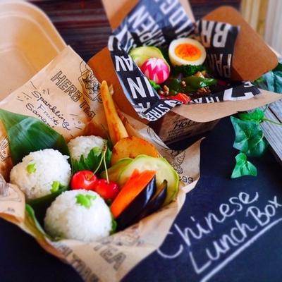 スタミナつけよう*麻婆茄子の中華な旦那くん弁当+金沢土産コラボの旦那くん弁当