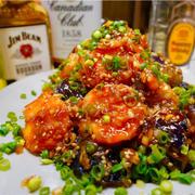 【レシピ】ぷりぷり海老とトロトロ茄子のやみつき香味ダレ