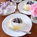 超簡単♡ティータイムケーキ デルタインターナショナル『ブルーベリーシロップ漬け』レシピ