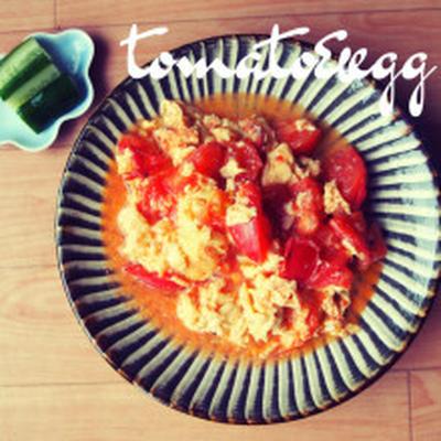 3分で完成!トマトと卵の中華炒め