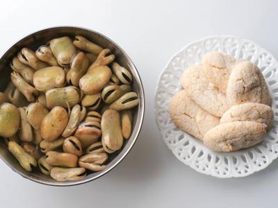 """>""""Purè di fave con crostini 空豆のピューレ"""" ペルージャのお盆料理 by Rieccoさん"""