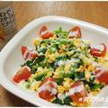 ほうれん草とスクランブルエッグのサラダ
