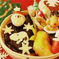 クリスマス弁当海苔弁スヌーピー時間がない時は海苔弁当+スラチー簡単で美味しい#う... by とまとママさん