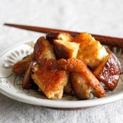 鶏肉と椎茸のクミン醤油炒め