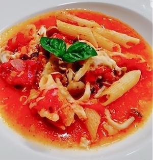 ペンネのトマト煮込み(ワンポット料理)