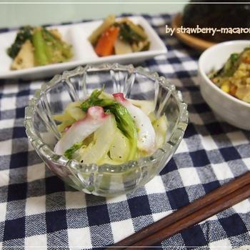 セロリとタコのマリネ・カレー味の卯の花煮・母の副菜で私の晩ご飯~☆