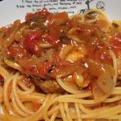 鶏むね肉のトマトソーススパゲッティー