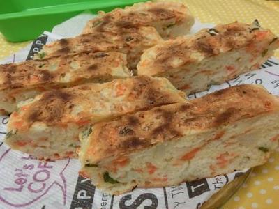 野菜たっぷり♪ フライパン&シリコンケースでケークサレ