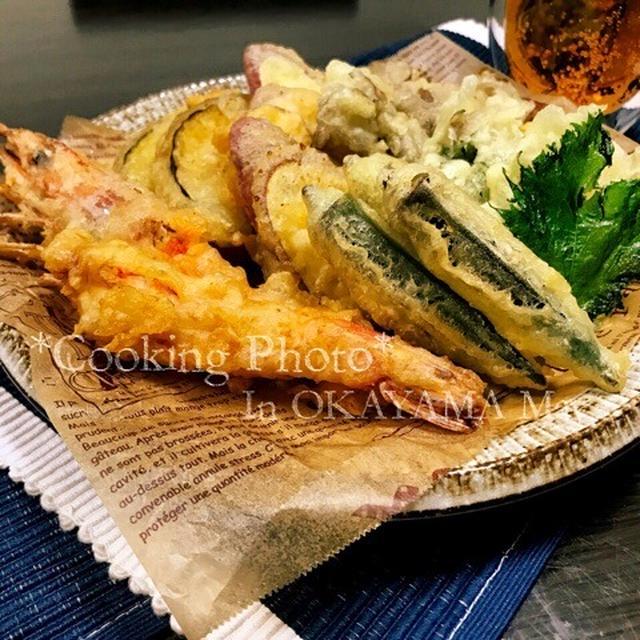 今日は久しぶりの✨海老と野菜の天ぷら✨