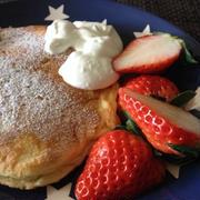 今日の朝ごはん☆パンケーキ