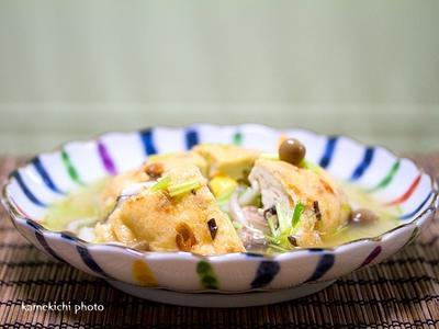 豆腐屋さんで買った「ひろうす」で白だしあんかけ&食べやすい味「神田ラーメン」