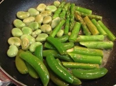 カンタン♪春野菜のソテー(レシピ)