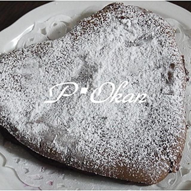 バレンタインに♪簡単ハートチョコチーズケーキ