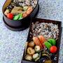 【今日のおべんと】ささみの梅巻き大葉包み弁当 by JUNA(神田智美)さん