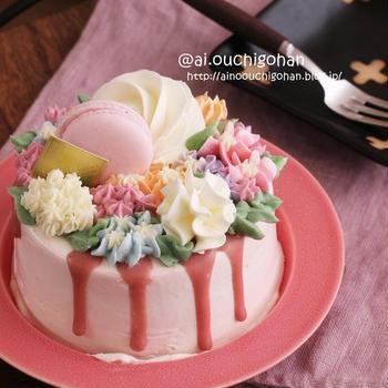 【日記】レコルトのハンディブレンダーでまさかのお菓子教室?#レコルト #ハンディブレンダースリムプラス #フラワーケーキ #デコレーションケーキ #バラのケーキ