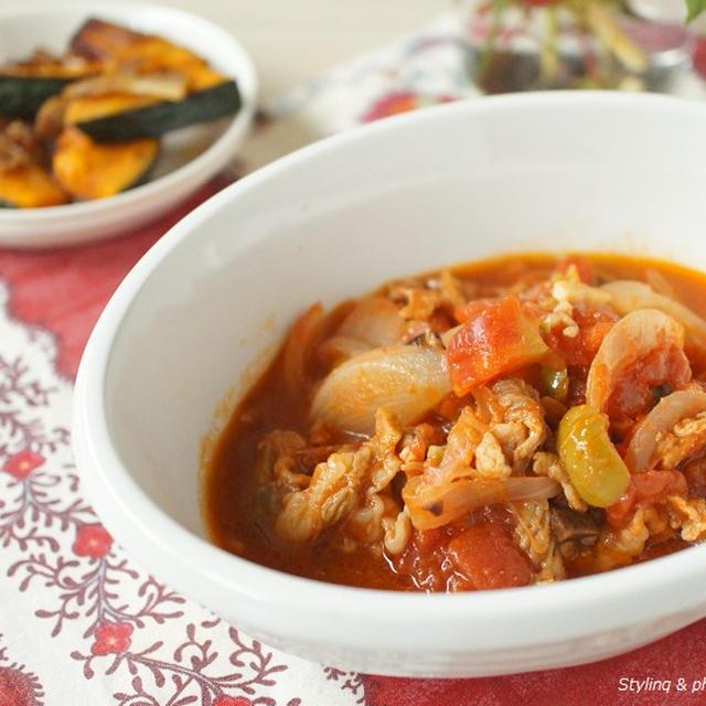 【ラルーン掲載】おもたせにも!冷え防止の簡単レシピ「豚肉とオリーブのトマト煮込み南仏風」