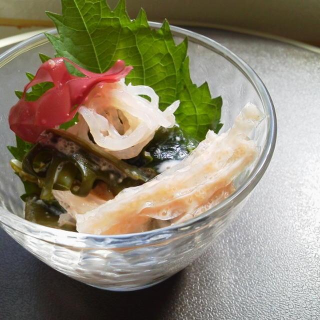 海藻と蒟蒻のチーズ明太子ソース(常備菜)