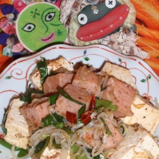 スパムちゃんぷるー&大根のおかかサラダ(お家カフェ)