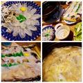 1月の鍋「河豚鍋・ミックスしゃぶ・うどんすき」♪ Fugu hot pot