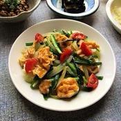 卵と夏野菜の炒め物