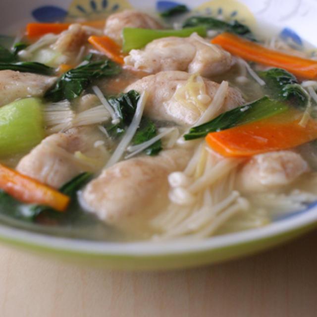 チンゲン菜とささみの中華煮