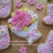 ブーケ*花束のアイシングクッキー