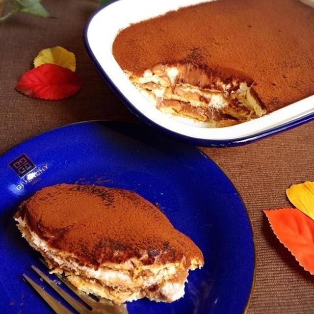 チョコ入りマロンクリームで濃厚スコップケーキ