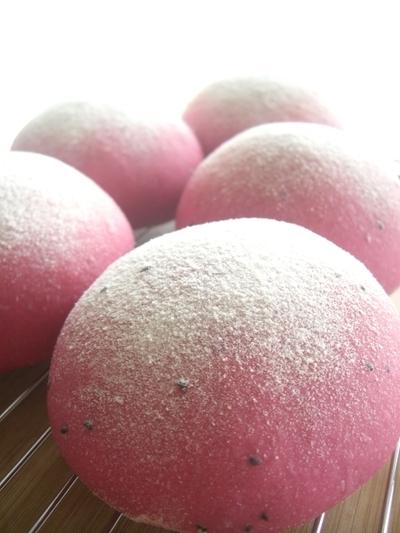 ピンク色のパン~ドラゴンフルーツパン