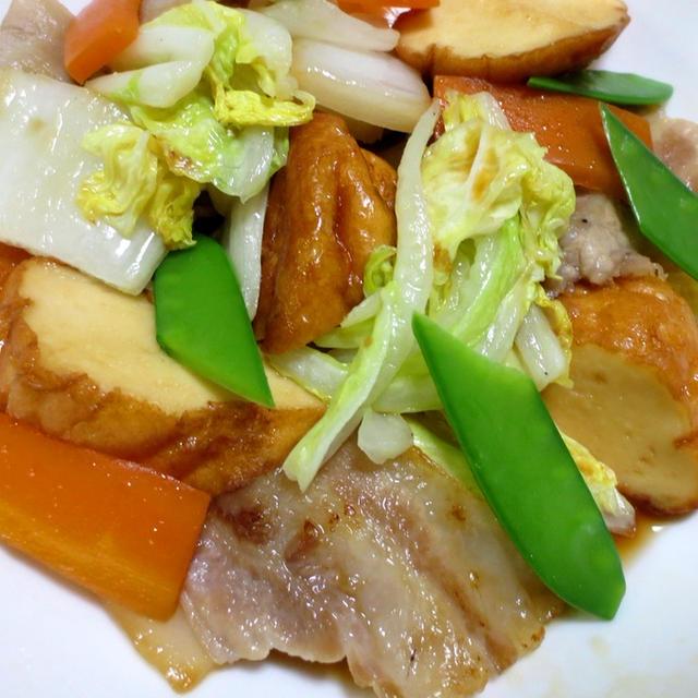 魚河岸あげと白菜のポン酢炒め【ふんわり♪さっぱり】