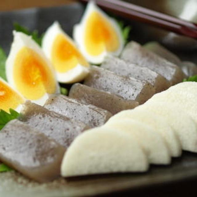 こんにゃく、長芋、ゆで卵のぬか漬け