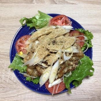 ヨシケイの食材宅配でサムギョプサル風のごちそうサラダを作ってみた