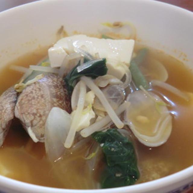 あさりと豆腐の韓国風ピリ辛スープ♪
