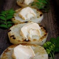 ◆長芋ステーキにクリームチーズ~ゆるやか糖質制限中♪