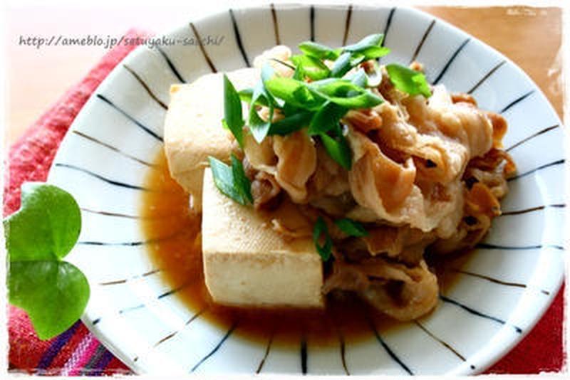 簡単&味しみしみ!電子レンジで作る「肉豆腐」