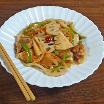 梅雨時の免疫力アップレシピ 10分で簡単!酢豚風 野菜たっぷり酢醤油炒め