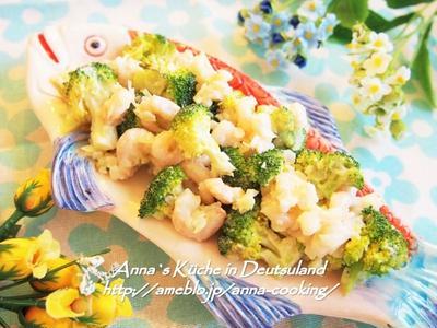 【副菜】和えるだけで簡単お洒落!デリ風ブロッコリーと小エビのサラダ