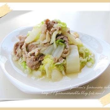 *白菜と豚肉のあんとじ煮*