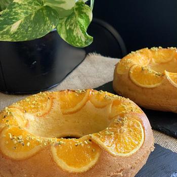 エンゼル型でフルーティーなオレンジケーキを焼きました〜大量の栗が届きました