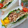 マヨわさが決めて! 和食系焼肉サンドウィッチ by 青山 金魚さん