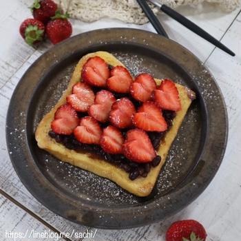 フレンチトースト♡いちごあん♡【#簡単レシピ#トースト】
