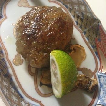 柚と松茸のハンバーグ☆