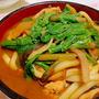 """濃厚な赤味噌の風味が、 うどん麺によくマッチ """" 味噌煮込みうどん"""""""