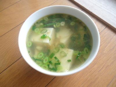 超簡単♪生姜と豆腐のスープ