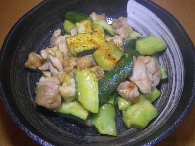 きゅうりと鶏肉の甘酢あん・料理レシピ