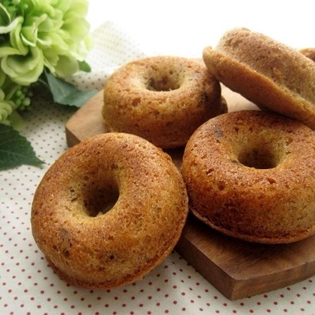 クルミとシナモンの焼きドーナツ