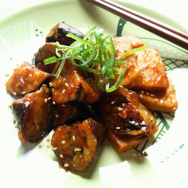 なすと高野豆腐のコチュジャン照り焼き☆