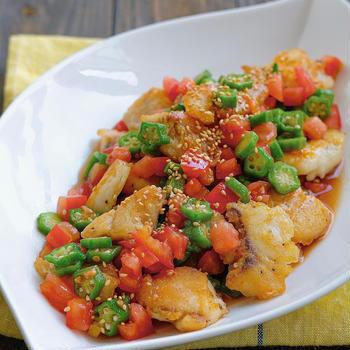 白身魚の夏野菜南蛮漬け